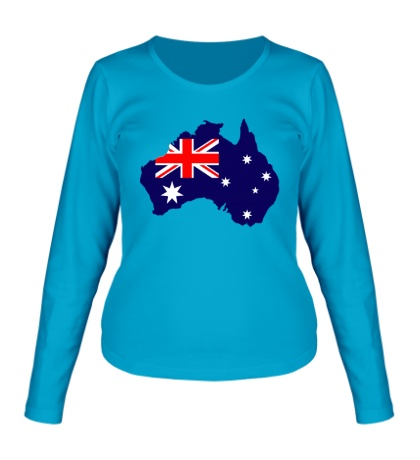 Женский лонгслив Карта Австралии