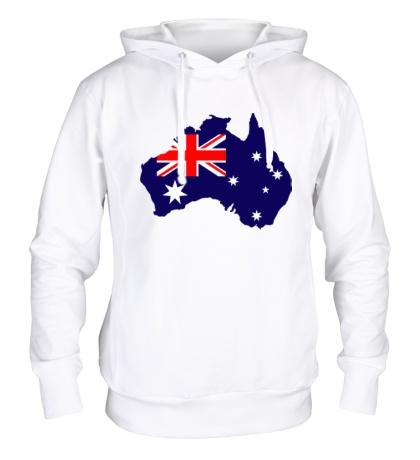 Толстовка с капюшоном Карта Австралии