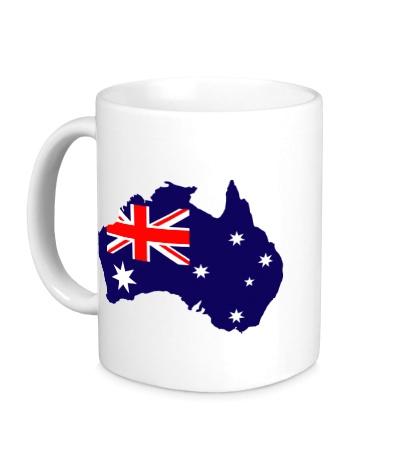 Керамическая кружка Карта Австралии