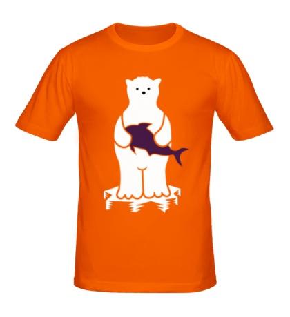 Мужская футболка Мишка на льдине