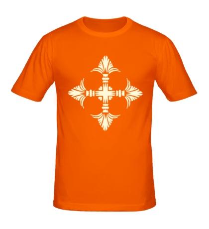 Мужская футболка Геральдический орнамент свет