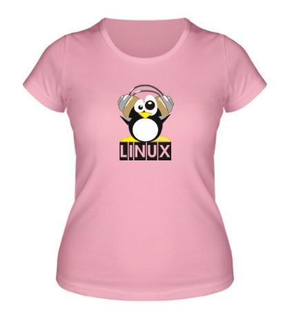 Женская футболка Linux