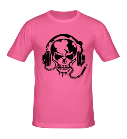 Мужская футболка Череп меломана