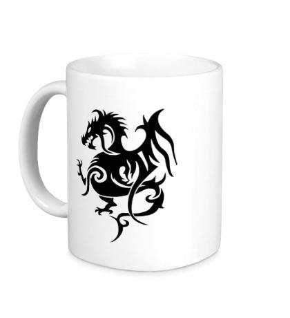 Керамическая кружка Геральдический дракон