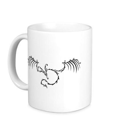 Керамическая кружка Скелет дракона