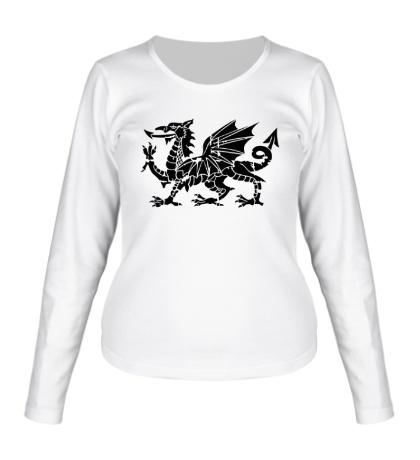 Женский лонгслив Мифический дракон