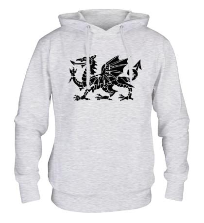 Толстовка с капюшоном Мифический дракон
