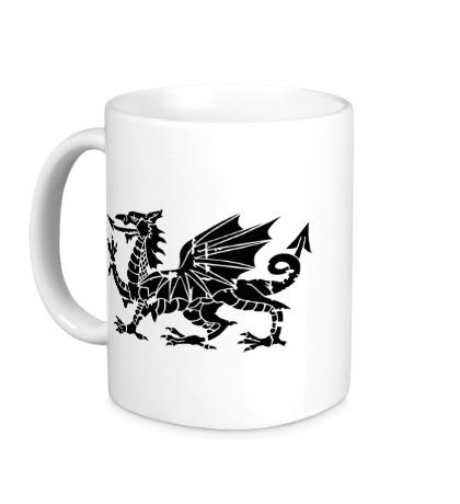 Керамическая кружка Мифический дракон