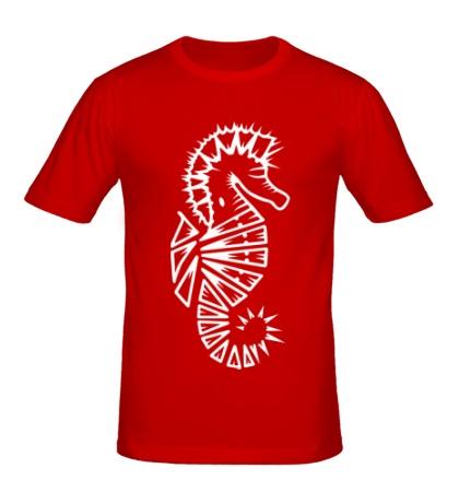 Мужская футболка Морской конек