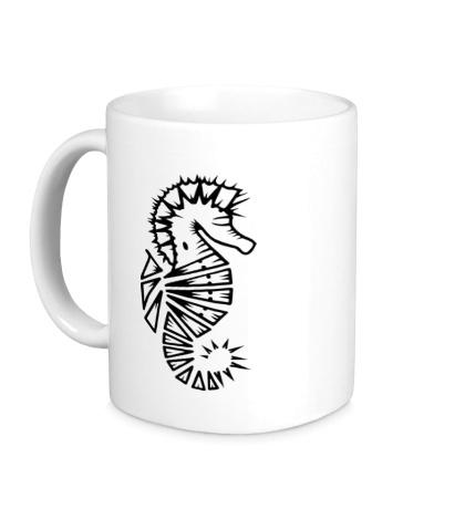 Керамическая кружка Морской конек