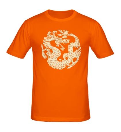 Мужская футболка Китайский дракон рисунок свет