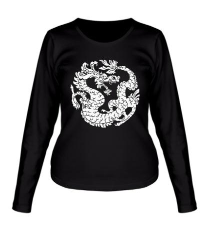 Женский лонгслив Китайский дракон