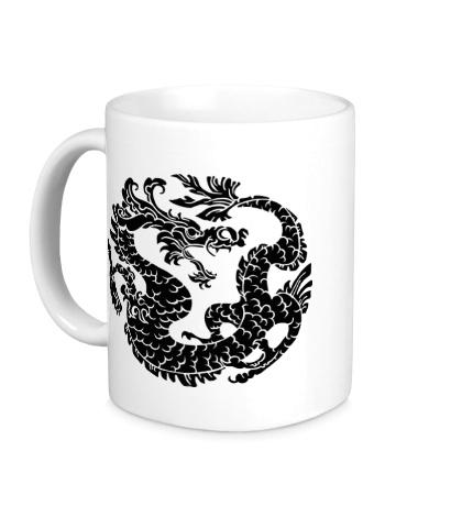 Керамическая кружка Китайский дракон