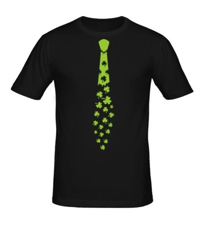 Мужская футболка Галстук с трилистниками