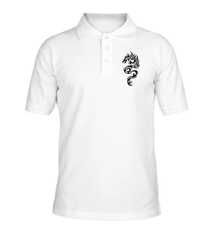 Рубашка поло Тату огненный дракон