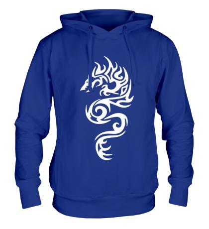 Толстовка с капюшоном Тату огненный дракон