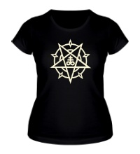 Женская футболка Пентаграмма свет