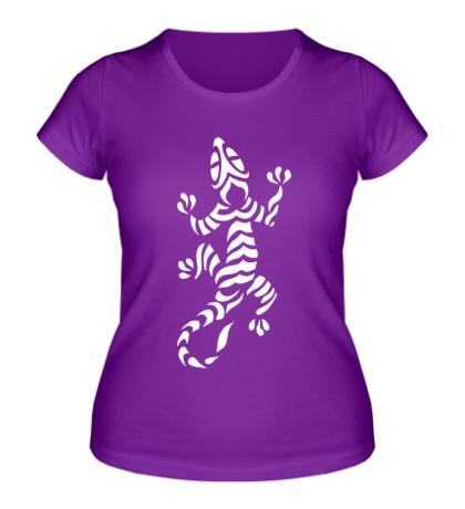 Женская футболка Полосатая ящерица