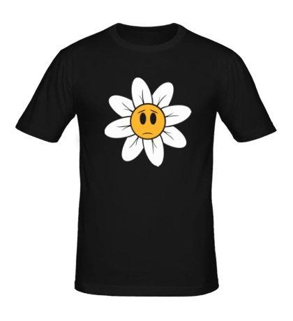 Мужская футболка Грустная ромашка