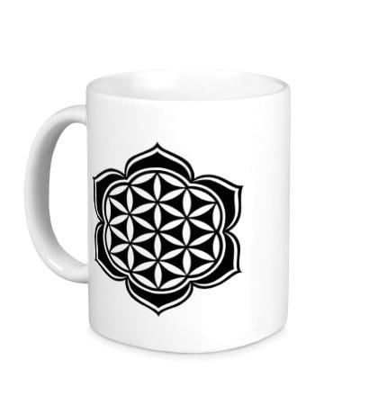 Керамическая кружка Цветок Лотоса: узор