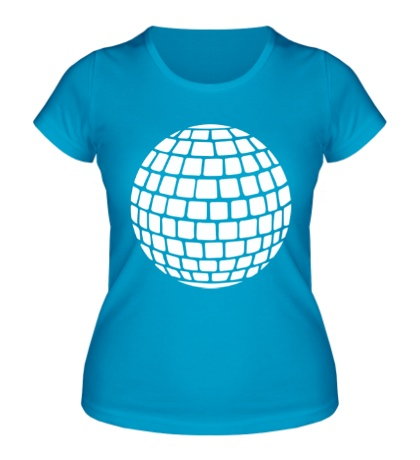 Женская футболка Зеркальный шар