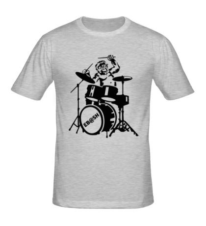 Мужская футболка Обезьяна с барабанами
