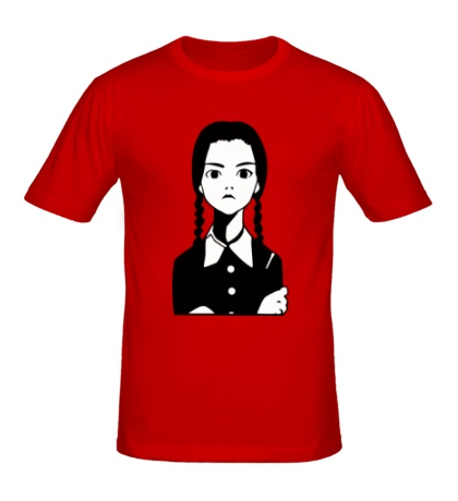 Мужская футболка Девочка Wednesday