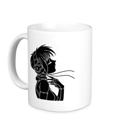 Керамическая кружка Девушка с наушниками