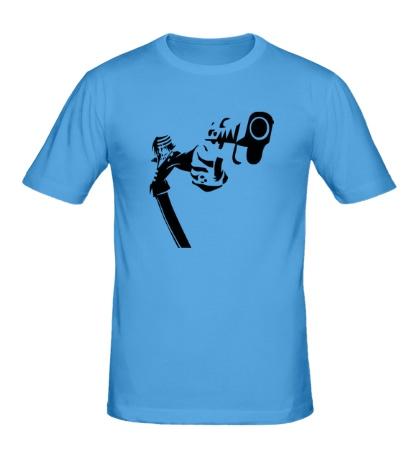 Мужская футболка Парень с оружием