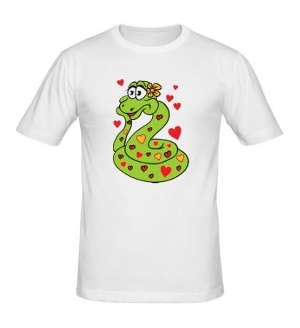 Мужская футболка Влюбленная змея