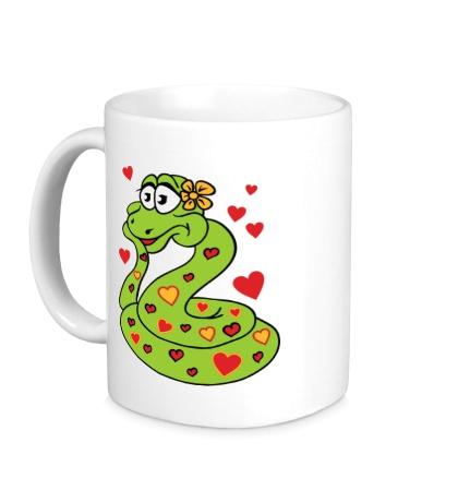Керамическая кружка Влюбленная змея