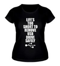 Женская футболка Жизнь слишком коротка
