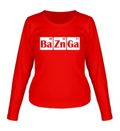 Женский лонгслив Ba-Zn-Ga
