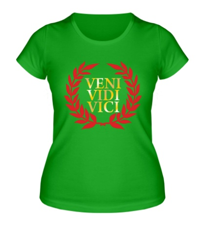 Женская футболка Veni vidi vici