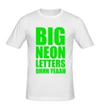 Мужская футболка Большие неоновые буквы