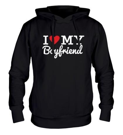 Толстовка с капюшоном I love my boyfriend