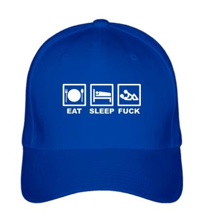 Бейсболка Eat sleep fuck