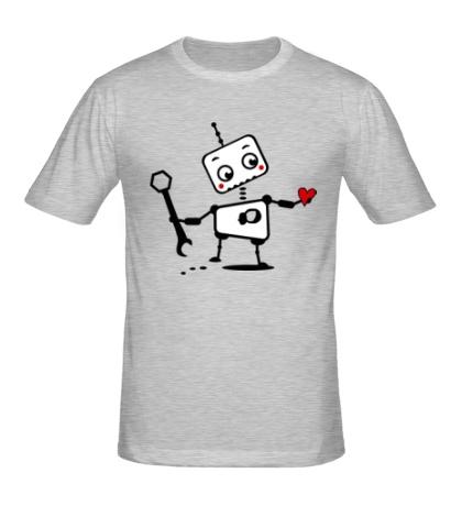 Мужская футболка Робот-мальчик