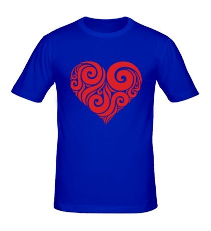 Мужская футболка Узор сердца