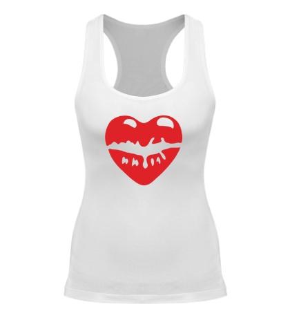 Женская борцовка Поцелуй в виде сердца