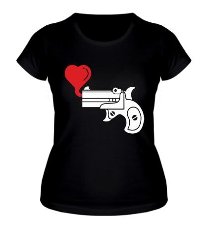 Женская футболка Love gun