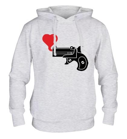 Толстовка с капюшоном Love gun