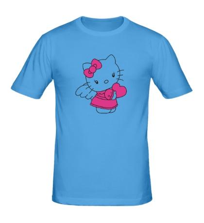 Мужская футболка Kitty-ангел
