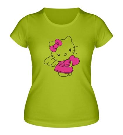 Женская футболка Kitty-ангел
