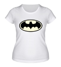 Женская футболка Светящийся Бэтмен