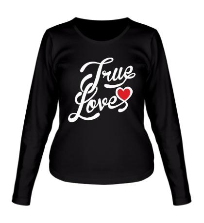 Женский лонгслив True love