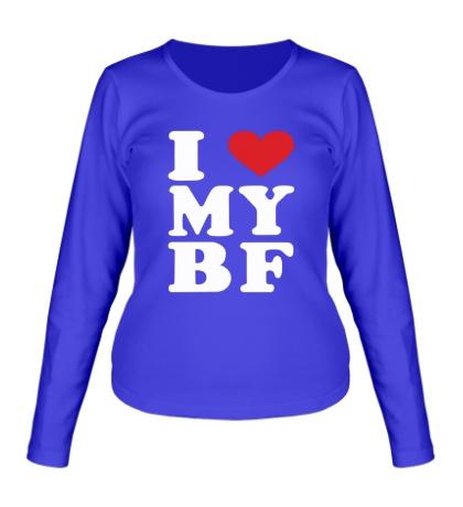 Женский лонгслив I love my bf i love my boyfriend