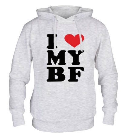Толстовка с капюшоном I love my bf i love my boyfriend