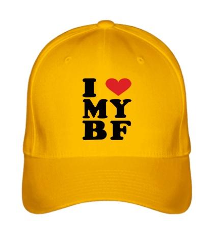 Бейсболка I love my bf i love my boyfriend