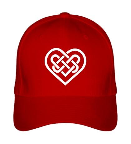 Бейсболка Сердце из кельтских узоров